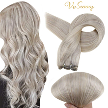 VeSunny Sew in Hair Extensions Double Weft Remy Hair Bundle Blonde Weave in Hair Extensions