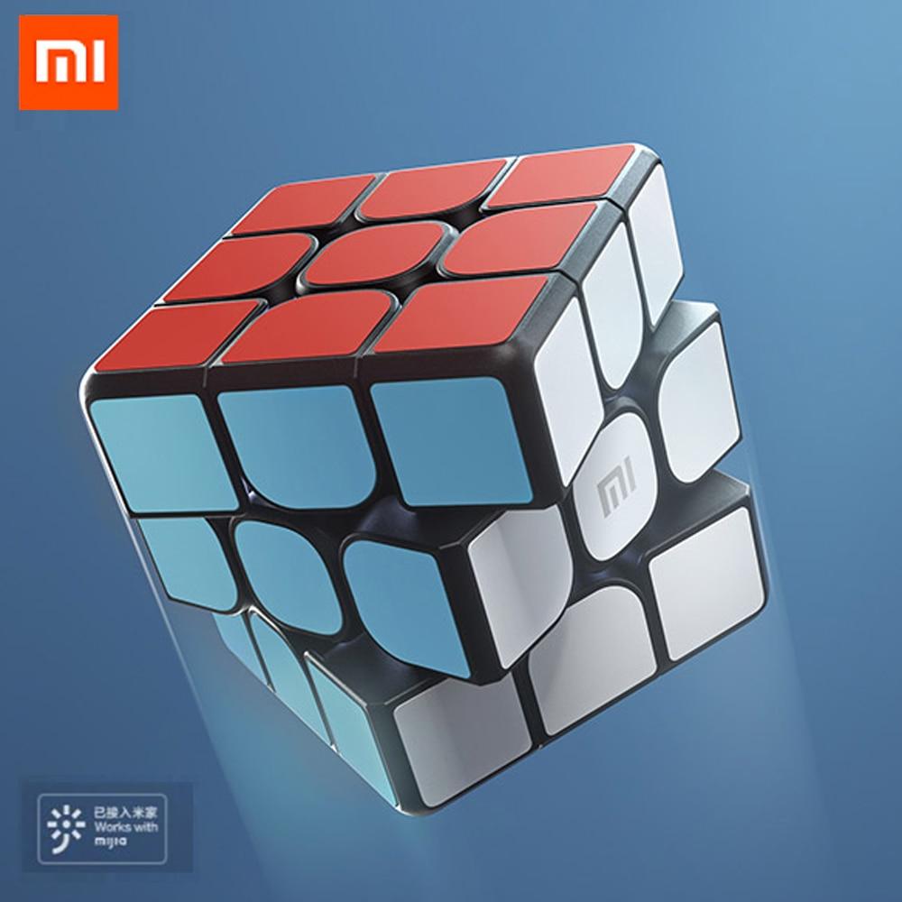 Оригинальный XIAOMI оригинальный Bluetooth магический куб умный шлюз связь 3x3x3 квадратный Магнитный куб головоломка научное образование игрушка п...
