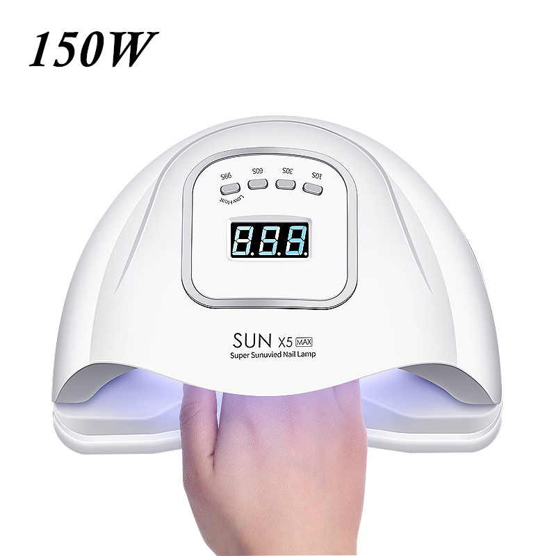 150W UV LED Nail Lamp With 45 Pcs Leds For Manicure Gel Nail Dryer Drying Nail Polish Lamp 30s/60s/99s Auto Sensor Manicure Tool