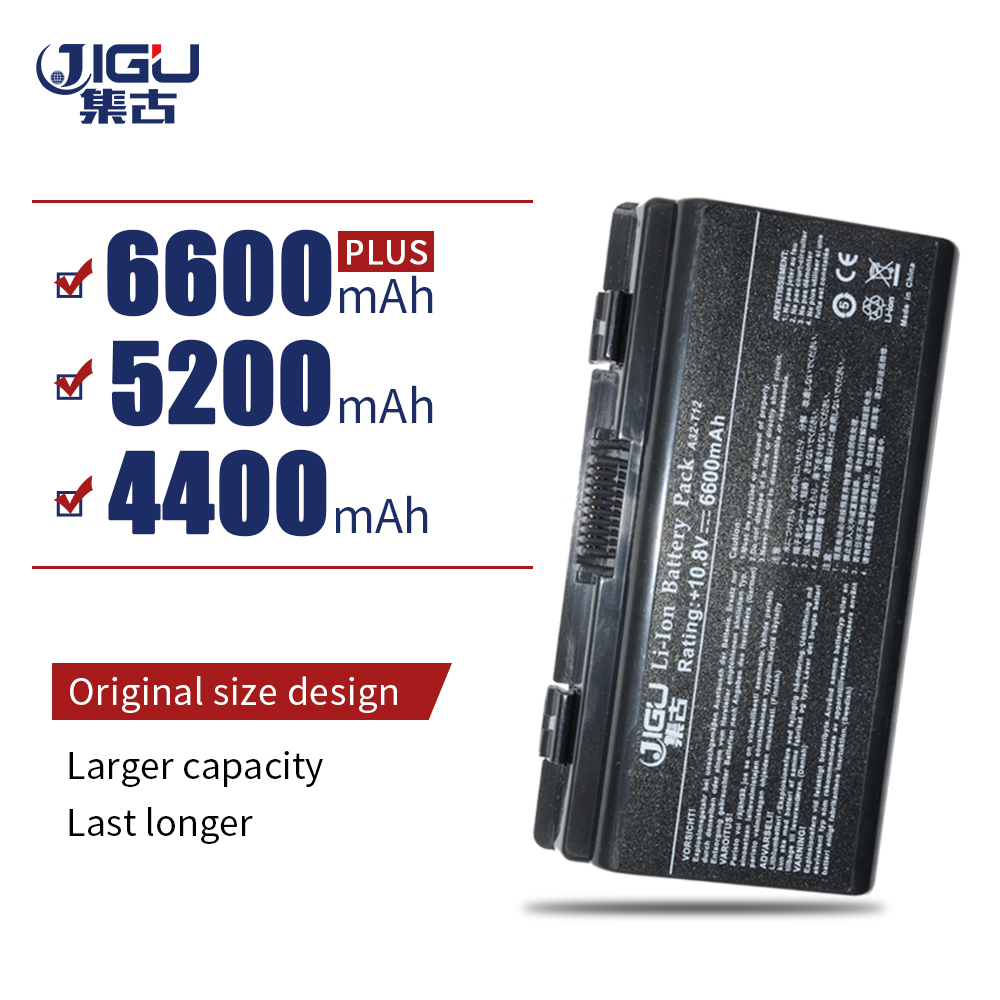 JIGU 6Cells Laptop Battery For Asus A31-T12 A32-T12 A32-X51 T12 T12Fg T12Ug X51 X51C X51H X51L X51R X51RL 90-NQK1B1000Y