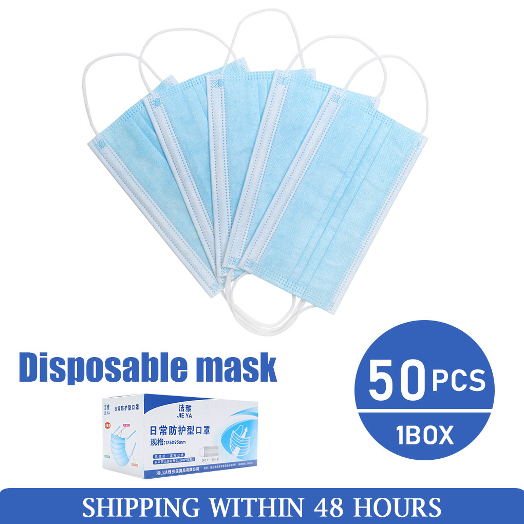 10/20/50/100Pcs Disposable Earloop Activated Mouth Mask Cotton Mouth Face Mask