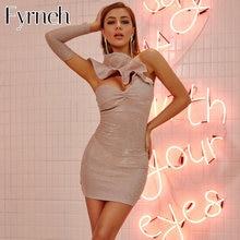 Женское короткое вечернее платье fyrneh блестящее мини с открытым