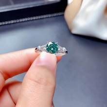2020 new crackling green moissanite ring for women jewelry engagement ring for wedding 925 silver ring birthday gift love(China)