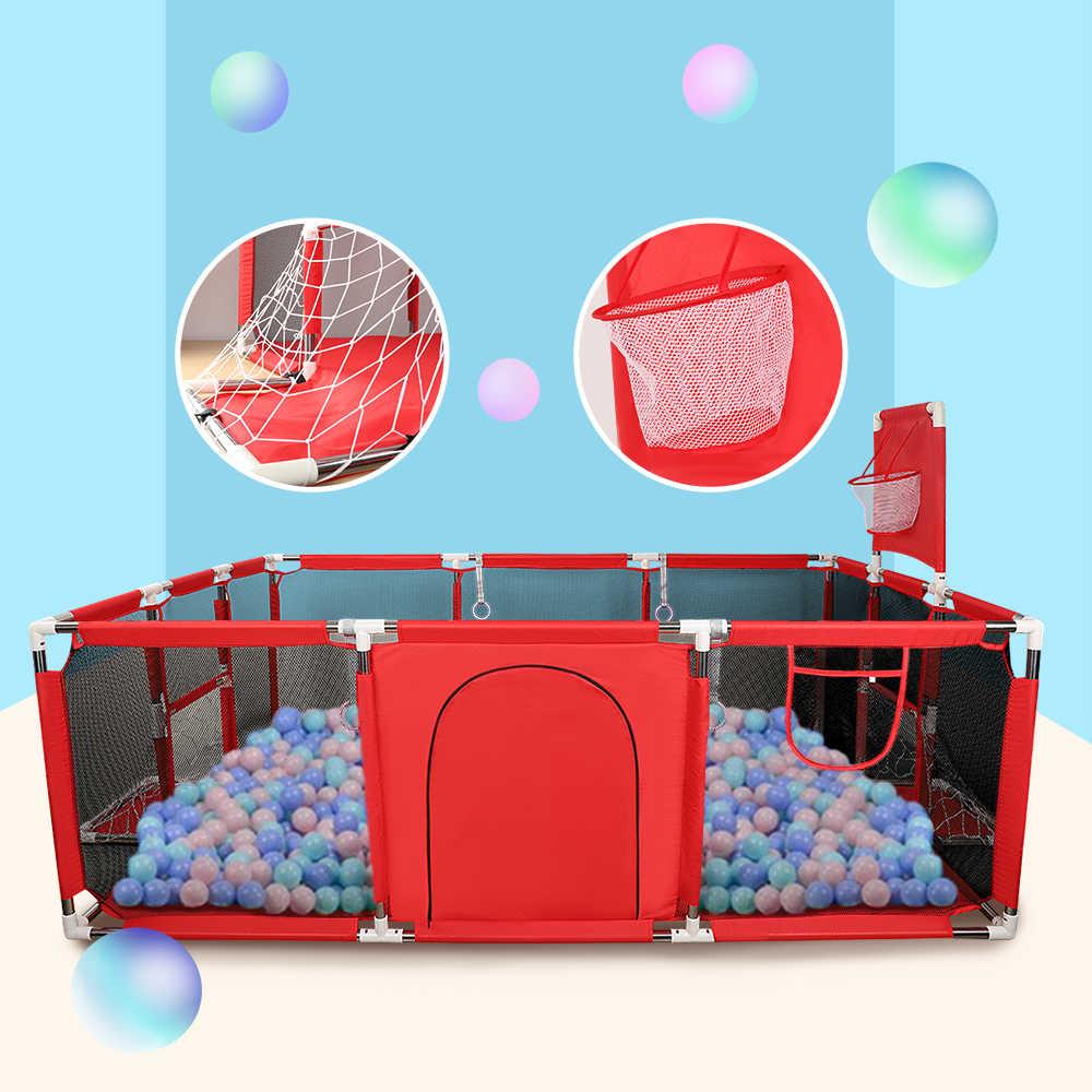 Baby Box Kinderen Veiligheid Barrière Zwembad Ballen Opvouwbare Kids Basketbal Voetbal Veld Voor 0-6 Jaar Oud Spel Tent reling