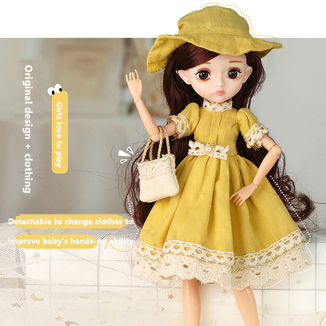 Adollya 1/6 BJD Movable Joints Mini Dolls For Girls BJD Doll Full Set Princess Female Body BJD Accessories Kawaii Toys For Girls 3