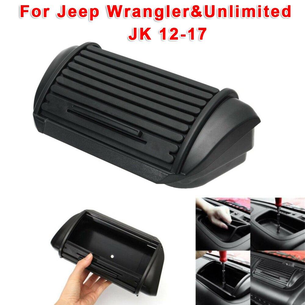 1pc Dashboard Storage Box Organizer ABS Center Console Tray For Jeep Wrangler Unlimited JK 12-17 Car Interior Accessories