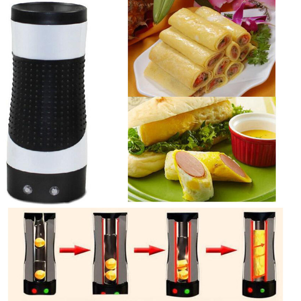 220V Electric Household DIYElectric Automatic Rising Egg Roll Maker Cooking Tool Egg Cup Omelette Master Sausage Machine