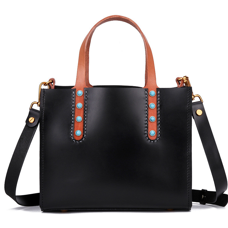 Women\'S Bag New Handbag Fashion Handmade Suede Genuine Leather Female Tote Shoulder Bag Inlaid Retro Personality Menssenger Bags