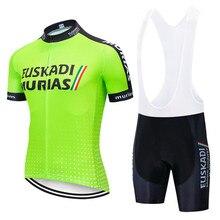 цена на 2020 EUSKADI pro team cycling clothing summer men short sleeves suit maillot ciclismo cycling jersey set bib shorts bike clothes
