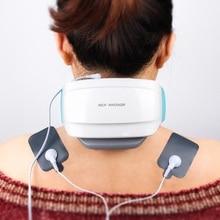 Elektrische Puls Acupunctuur Hals Massager Gezondheidszorg Cervicale Therapie Instrument Lading Patch Massage Draadloze Afstandsbediening