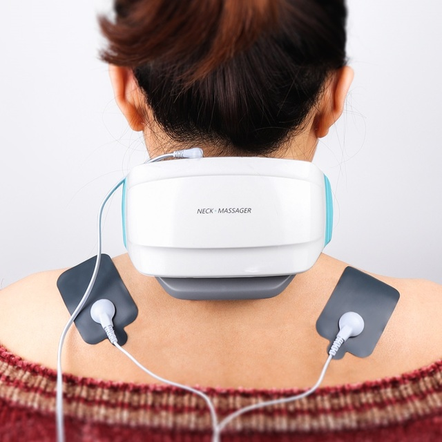 Elektrische puls Akupunktur Neck massager gesundheitsnackenkissen therapie gerät Aufladen patch massage Drahtlose Fernbedienung