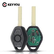 KEYYOU zdalny klucz samochodowy ID46 Chip dla BMW CAS2 serii 5 E46 E60 E83 E53 E36 E38 315LP MHZ 315MHz 433MHZ 868MHZ 3 przyciski