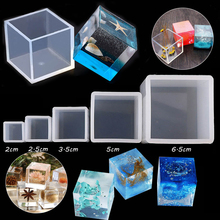 Molds Square Transparent Resin Pendant Making-Tools Jewelry Crystal Uv-Epoxy-Cube 3D
