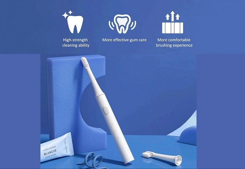 2019 Xiaomi mijia T100 Sonic Electric Toothbrush Adult Waterproof Ultrasonic automatic Toothbrush USB Rechargeable