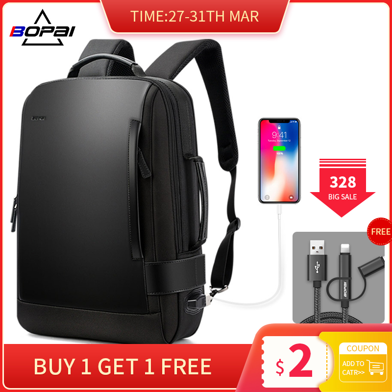 Dropshiping Men Computer Backpack Schoolbags Waterproof School Backpacks Leather Male Mochila Fashion Travel Backpack USB Charge