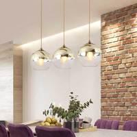 Nordic Pendant Lights Fixtures Vintage Hanglamp Gold Glass Design Lamp Lustre Dining Room Kitchen Loft Decor Home Lighting