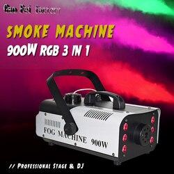 Maszyna do mgły wielokolorowa maszyna do dymu RGB 3w1 profesjonalna scena Led w Oświetlenie sceniczne od Lampy i oświetlenie na