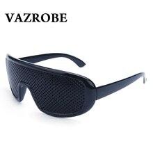 Vazrobe Pinhole Glasses 2 Pcs/lot Black Anti Fatigue Case Free Hallow Sunglasses Small Hole Myopia Eyewear High Quality