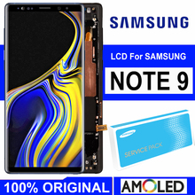 ORIGINAL 6.4 AMOLED Display mit rahmen für SAMSUNG Galaxy Note 9 Note9 N960D N960F LCD Touch Screen Digitizer Ersatz teil