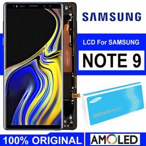 Image 1 - ORIGINAL 6.4 AMOLED Display mit rahmen für SAMSUNG Galaxy Note 9 Note9 N960D N960F LCD Touch Screen Digitizer Ersatz teil