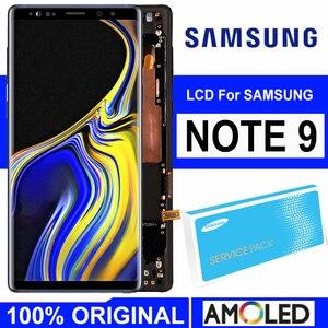 Image 1 - ORIGINALE 6.4 AMOLED Display con cornice per il SAMSUNG Galaxy Note 9 Note9 N960D N960F A CRISTALLI LIQUIDI di Tocco Digitale Dello Schermo di Ricambio parte