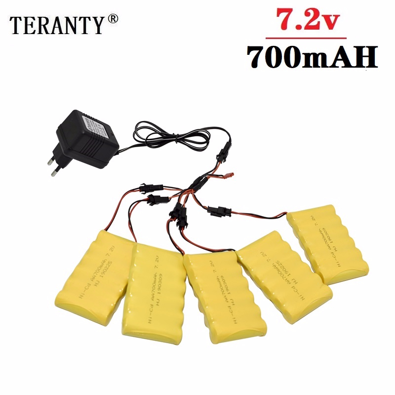 (SM Plug) Ni CD 7.2v 700mah Battery + 7.2v Charger For Rc toy Car Tank Train Robot Boat Gun AA 7.2v Rechargeable Battery Pack Replacement Batteries Consumer Electronics - title=