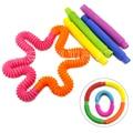 Цветные игрушки-антистресс в виде поп-трубок, сенсорные игрушки-антистресс для развития мелкой моторики, игрушки для снятия стресса и трево...