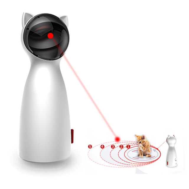 Gato automático brinquedos interativos inteligente provocação animal de estimação led laser engraçado modo handheld eletrônico pet para todos os gatos laserlampje kat 1