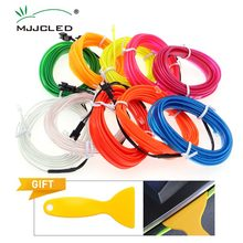 1-5M Flexible EL Wire Neon Light Dance Party Decor 6mm Sewing Edge LED Waterproof  Lamps With DC12V Driver