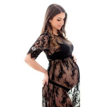 Dress Lace Photo-Shooting Fancy Maternity-Photography-Props Summer