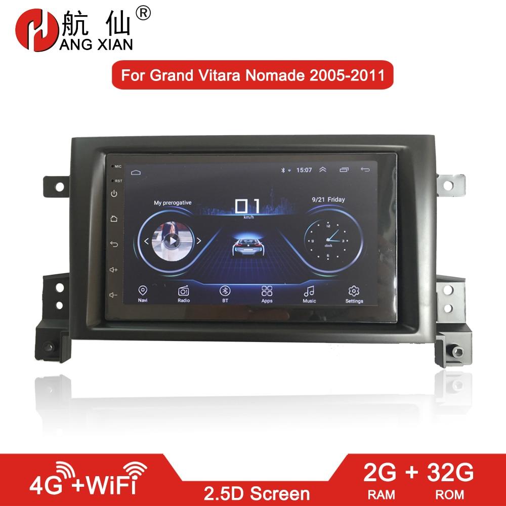 HANGXIAN 2 din Android 8,1 автомобильные радио стерео наклейки для SUZUKI Grand Vitara Nomad 2005 2011 Автомобильный dvd плеер автомобильные аксессуары