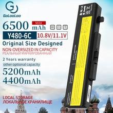 Новый аккумулятор Golooloo 11,1 В для ноутбука LENOVO G580 Z380 Z380AM Y480 G480 V480 Y580 G580AM L11S6Y01 L11L6Y01 6500 мАч, 6 ячеек
