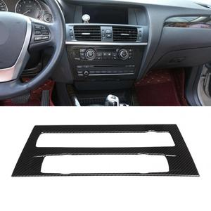 Carbon Fiber Style Air Conditioning Volume Adjustment Frame Trim Fits for BMW X3 F25 X4 F26 2011 2012 2013 2014 2015 2016 2017