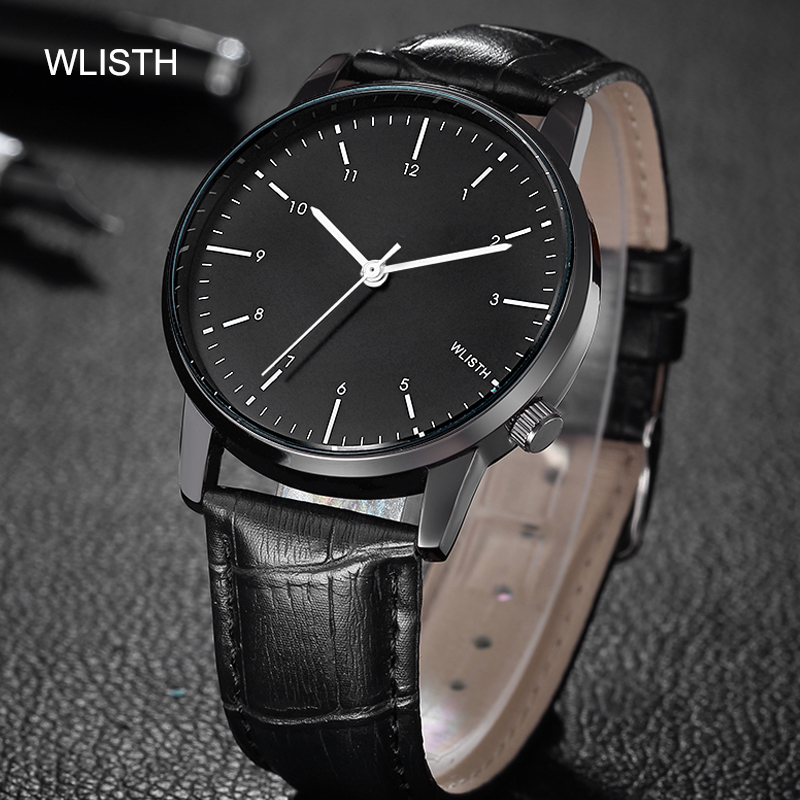 original factory goods casual waterproof case genuine leather strap belt for wash hands face anti-rain quartz watch