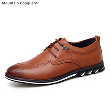 Mountain Conqueror Fashion Men Shoes Casual Breathable Lace up Mens Flats Autumn New chaussure homme