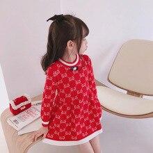 Baby Girl Sweater Dress 2020 Autumn New Kids Dresses for Gir