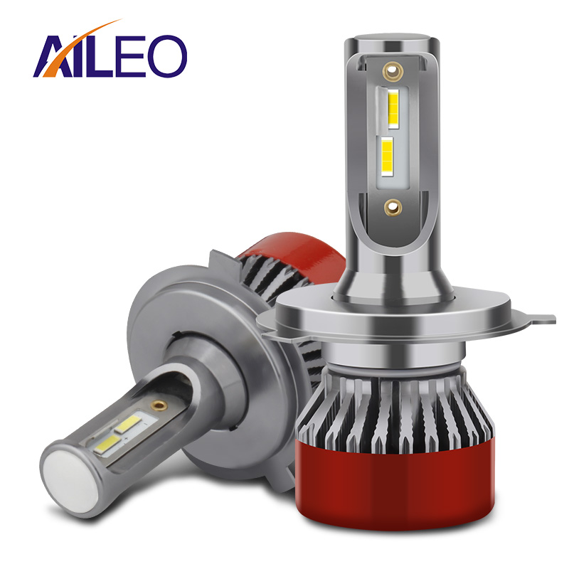 AILEO 2 шт., мини H7 LED H4 H11 H8 HB4 H1 HIR2 9012 9005 HB3 автомобильный головной светильник, автомобильные аксессуары, 6000K 4300K светодиодный противотуманный све...