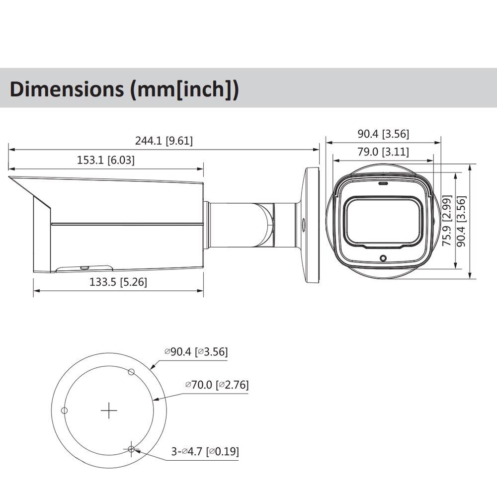 Original dahua câmera ip 8mp IPC HFW2831T