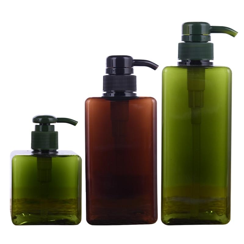 500ML Shampoo Pump Bottle Makeup Bathroom Liquid Shampoo Bottle Travel Dispenser Bottle Container For Soap Shower Gel