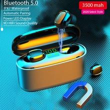 2020 Mới Tai Nghe Nhét Tai Không Dây 9D HIFI 3500MAh Sạc Màn Hình Hiển Thị Led Micro Bluetooth 5.0 Thể Thao Tai Nghe Không Dây Tai Nghe
