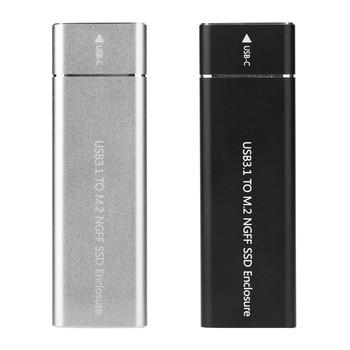 Aluminum USB 3.1 Gen 1 Type C to B Key M.2 SSD Case External SSD Enclosure Type C Adapter External SSD Enclosure For Laptop PC