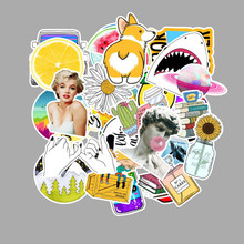 53PCS Cartoon VSCO Girls Kawaii Stickers Waterproof Graffiti Sticker to Laptop Fridge Phone Suitcase Bicycle Helmet Car Decals