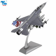 цены Terebo 1:72 F16 aircraft model alloy model simulation military model fighter f16D toy collection gift