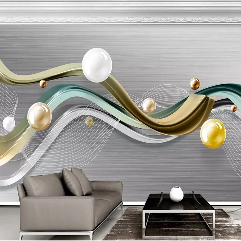3d Geometric Mosaic Marble Modern Minimalist TV Background Wall Home Decor Mural Waterproof 3D Wallpaper Photo Poster Wholesale