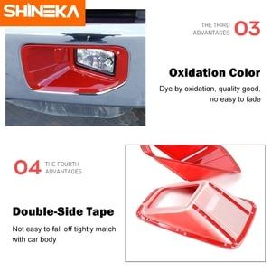 Image 5 - SHINEKA סיבי פחמן אביזרי עבור פורד F150 2015 + רכב קדמי ערפילי אור משמר דקור כיסוי מדבקות עבור פורד F150 2015 2020