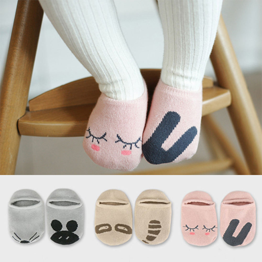Unisex Baby Socks Floor Boys Girls Kids Children Animal Rabbit Infant Cartoon Cotton Anti-skid Toddlers Slippers  Spring Autumn