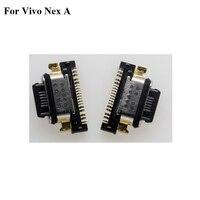 2 PEÇAS Novas Para NEX NEX UM vivo vivo UM Carregamento USB Conector do Carregador Porta Doca carregador USB Jack Substituição para vivo NEX UM 6.59