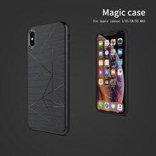 Iphone se 2020ケースnillkinマジックケースiphone 8/8プラス/iphone x/xs/xs最大磁気機能マット裏表紙ケース