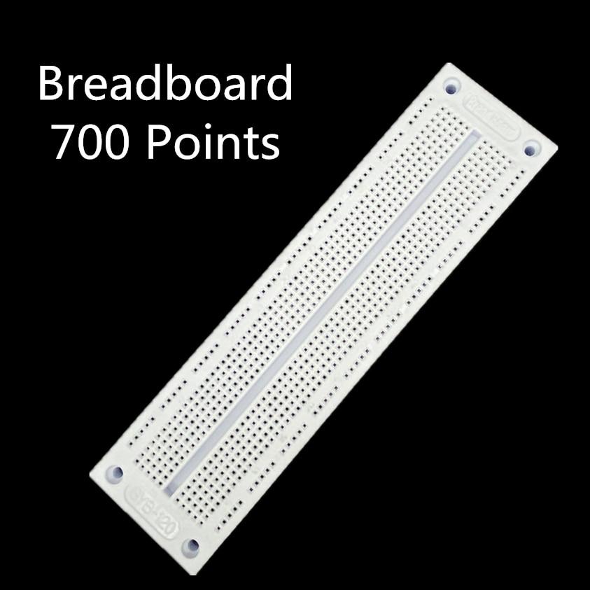 1pcs SYB 120 Breadboard 700 Points Solderless PCB Bread Board SYB120 Test Develop DIY|bread board|test boarddevelopment board - AliExpress