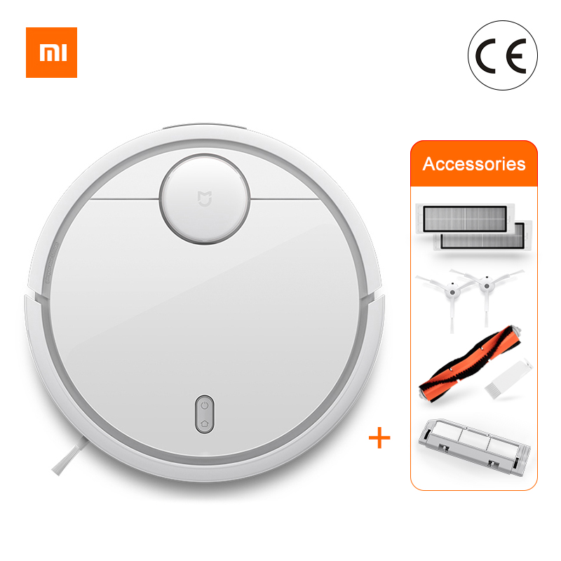Global Version Original Xiaomi MI Robot Vacuum Cleaner MI Robotic Smart Planned Type App Control Auto Charge LDS Scan Sweeping-in Vacuum Cleaners from Home Appliances